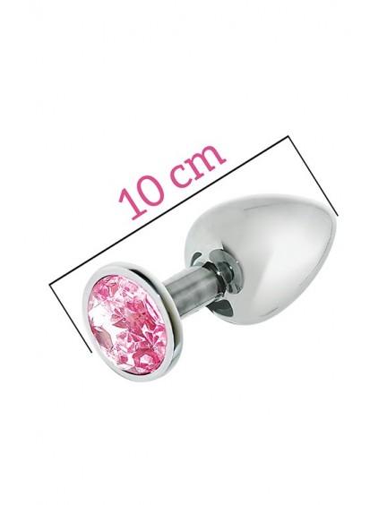 Plug acier et bijou rose 10 cm n74 Attraction