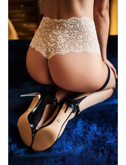 Culotte haute Paris perles ivoire Bracli