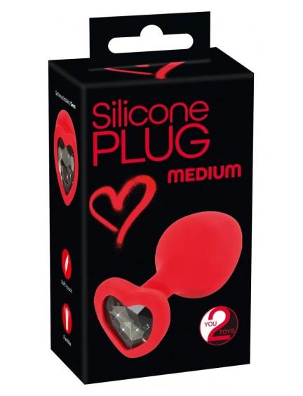 Plug anal silicone Medium rouge YOU 2 TOYS