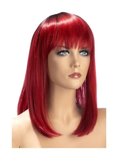 Perruque rouge mi-long Elvira Worldwigs