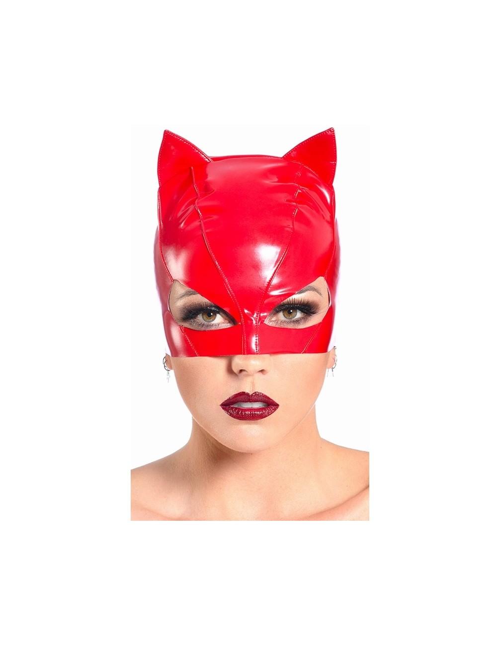 Masque Petit Chat Vinyle rouge PATRICE CATANZARO