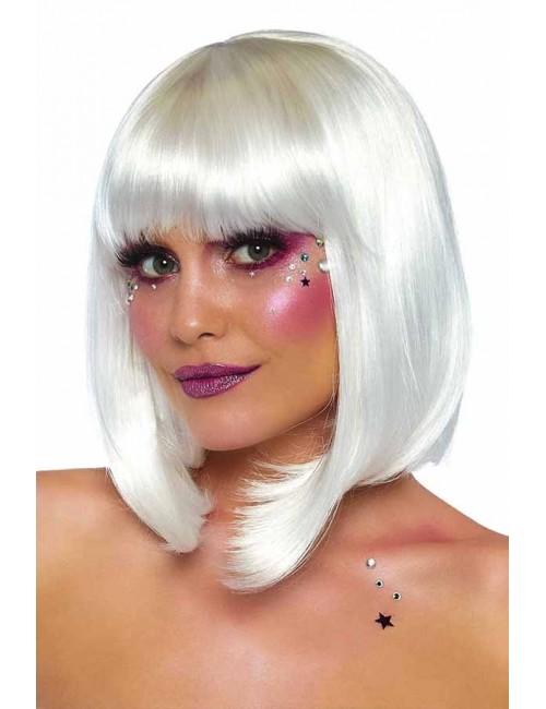 Perruque cheveux courts blanc perlé Leg Avenue