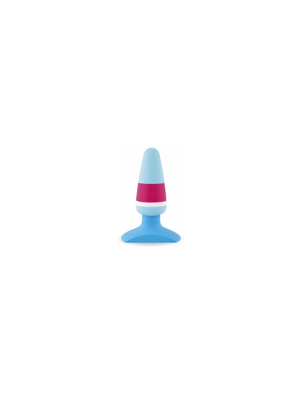 Plug Anal Butt Bicolore Bleu FEELZTOYS