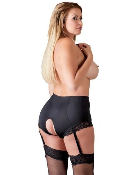 Culotte Haute avec bretelles noire Cottelli Collection