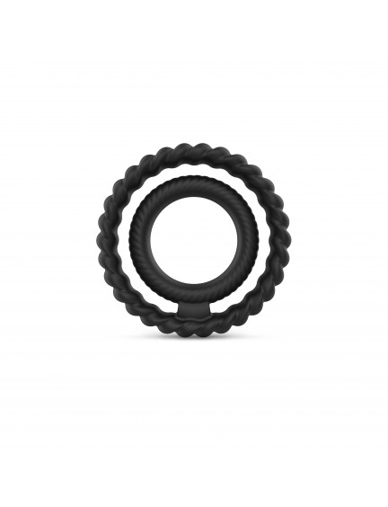 Cockring Dual ring Noir