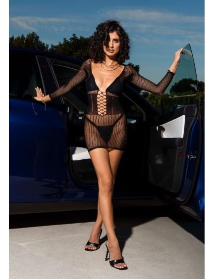 Peignoir sexy & intense noir Stephanie BEAUTY NIGHT
