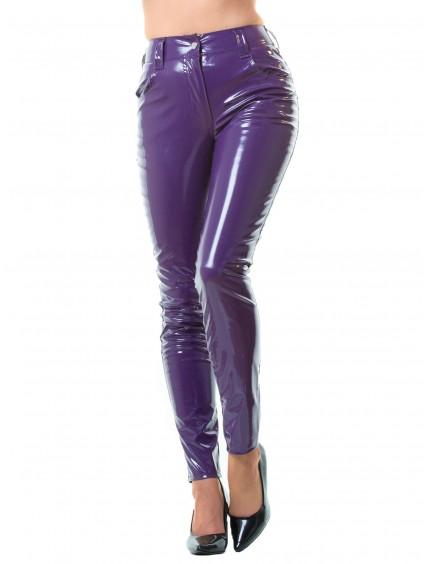 Pantalon Vinyle Violet Style Jeans Honour