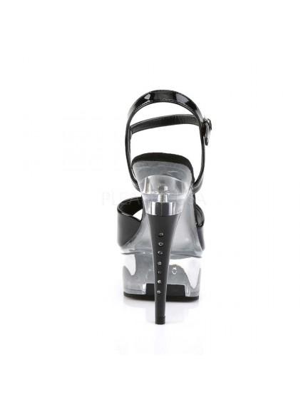 Sandales Glamourissime Noir Transparent PLEASER