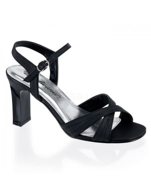 Sandales Noires & Talons Larges PLEASER