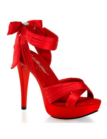 Sandales noeud et chic Rouge PLEASER