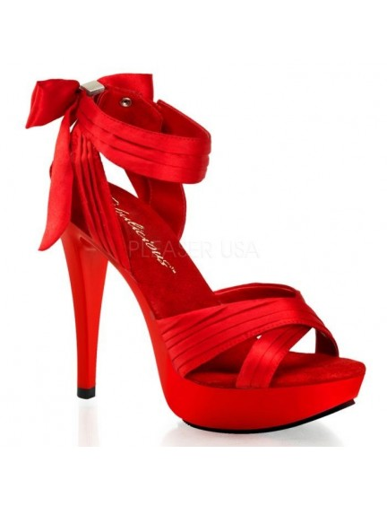 Sandales noeud et chic Rouge PLEASER