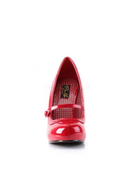 Escarpins chic rouge vernis & bride PLEASER