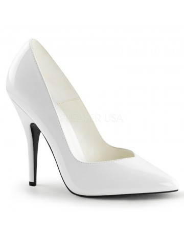 Escarpins Mode Bout en V Blanc PLEASER