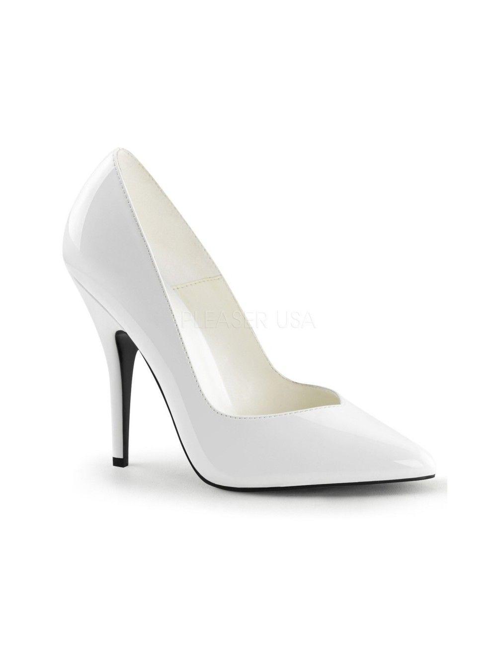 Escarpins Mode Bout en V Blanc PLEASER