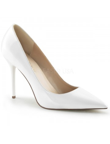 Escarpins esprit chic Blanc PLEASER