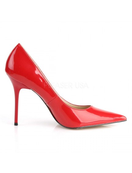 Escarpins esprit chic Rouge brillant PLEASER