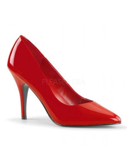 Escarpins Talons Hauts Rouge brillant 10cm PLEASER