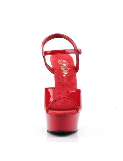 Sandales charme talon haut Rouge PLEASER