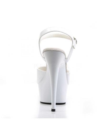 Sandales charme talon haut Blanc PLEASER