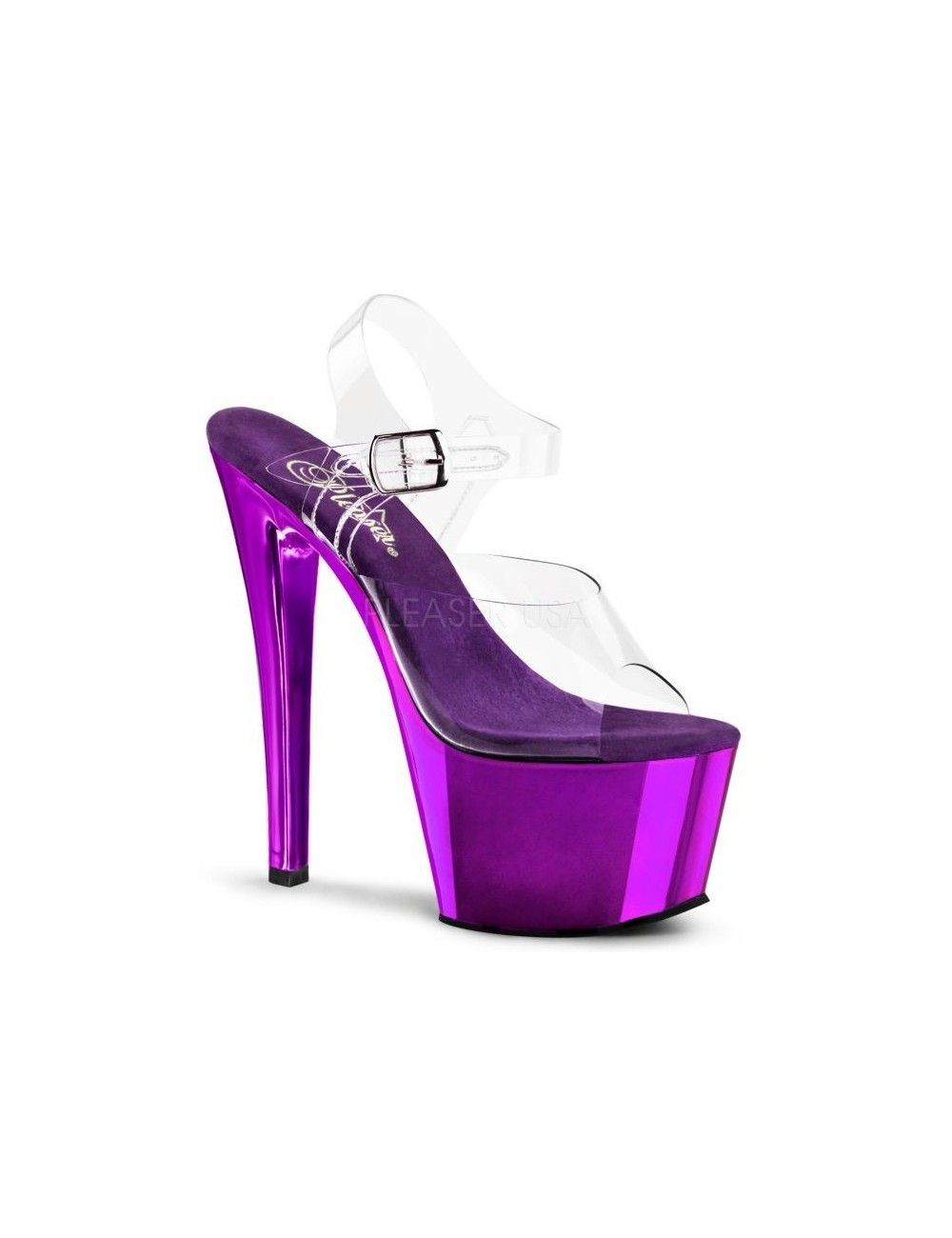 Sandales transparente et fun Mauve PLEASER