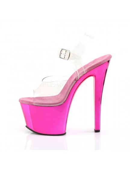 Sandales transparente et fun Rose Vif PLEASER