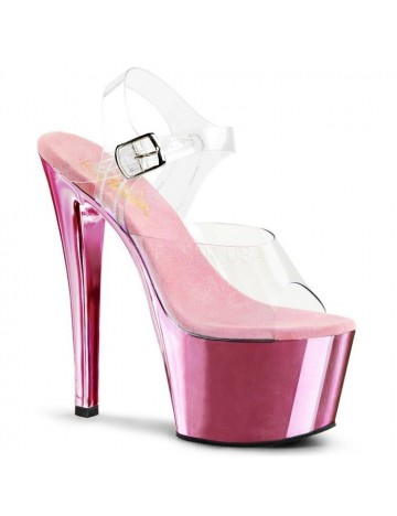 Sandales transparente et fun Rose pale PLEASER