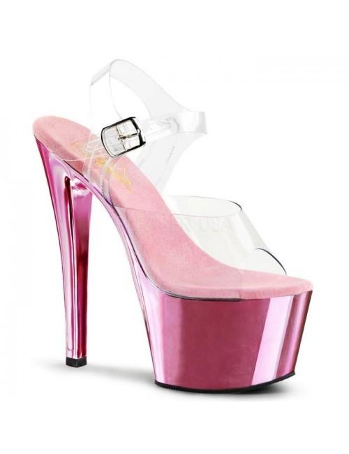 Sandales transparente et fun Rose pale PLEASER