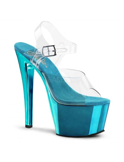 Sandales transparente et fun Turquoise PLEASER