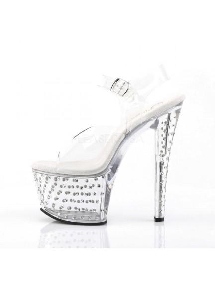 Sandales Transparente et Strass Transparent PLEASER