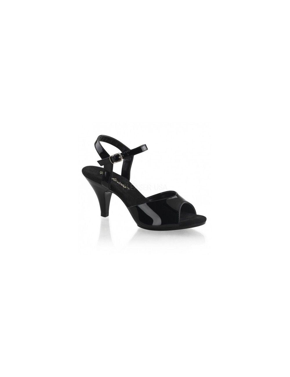 Sandales noir vernis Belle & Chic PLEASER
