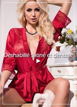 peignoir rouge pour femme