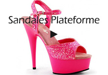 sandales plateforme sexy